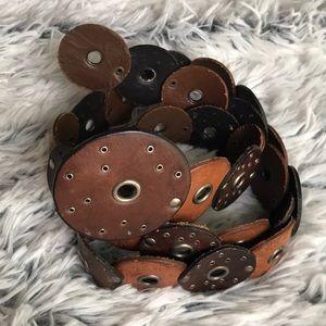 Accessories - Concho Multi Brown Belt